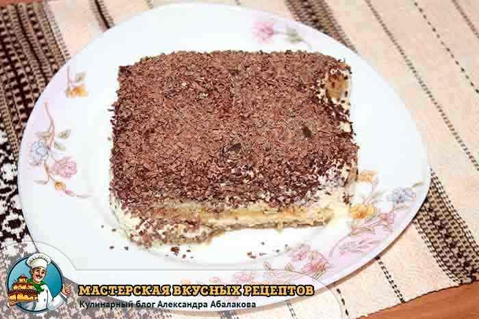 пирожное с сыром маскарпоне