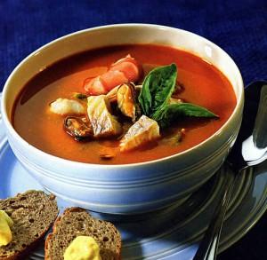 французский суп с рыбой