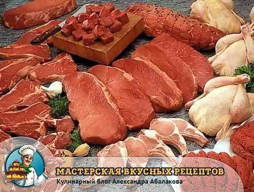 выбираем мясо животных и птицы
