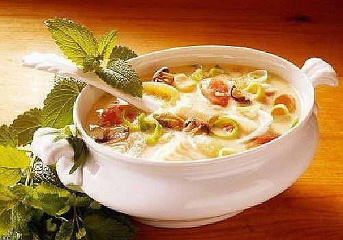 вкусный суп из морского окуня