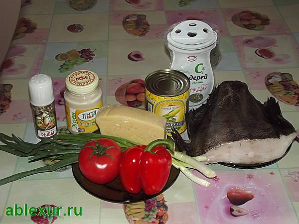 продукты для палтуса в духовке