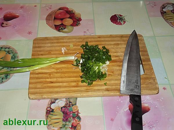 рублю зеленый лук