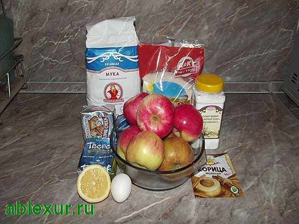 продукты для яблок в тесте