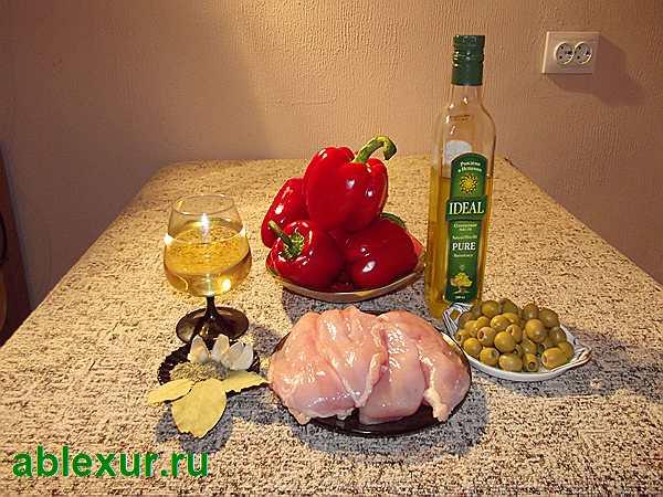 продукты для курицы в вине