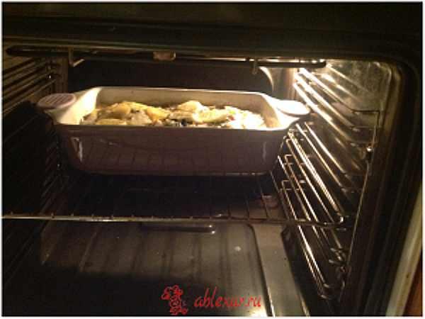 подрумяниваю картофельную запеканку в духовке