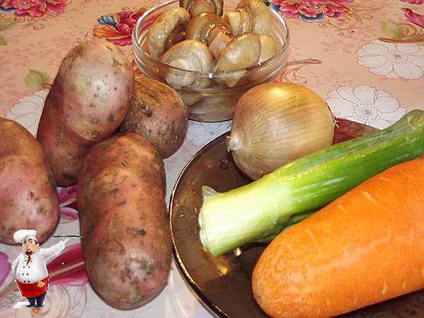 продукты для рулета из картофеля