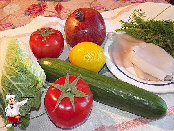 продукты для салата из капусты