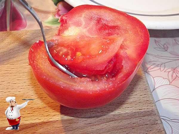 удаляю у помидора семена