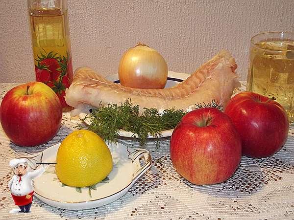 продукты для блюда из судака