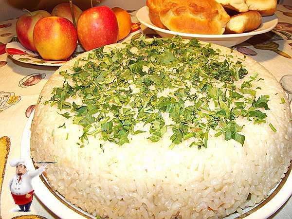 запеканка из риса с маслинами