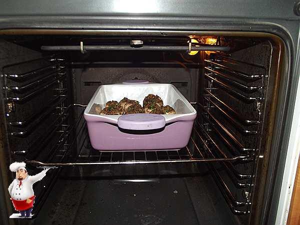 ставлю шампиньоны в духовку