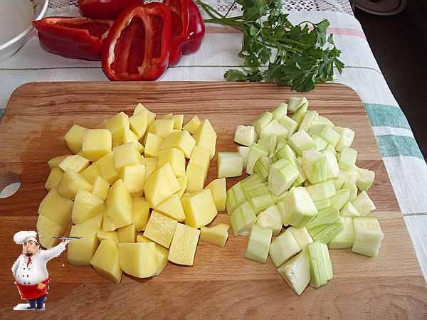 картошка и кабачки для рагу