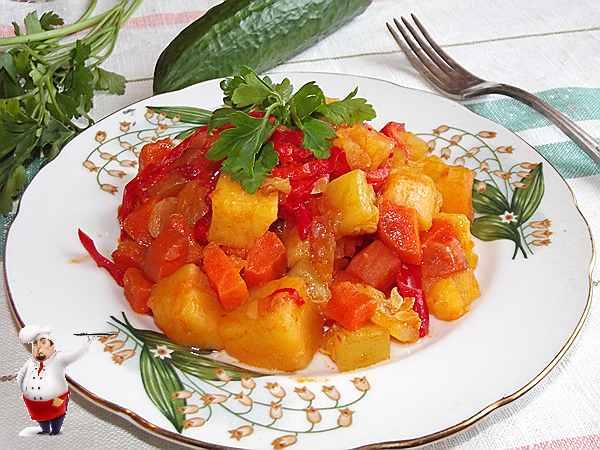 рагу из овощей с кабачком