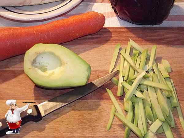 авокадо для рулета с овощами
