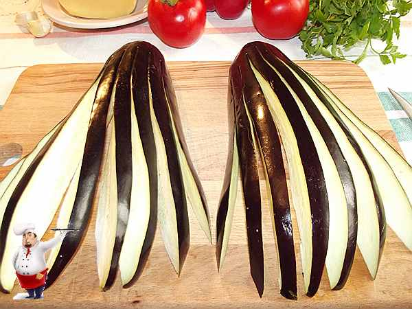 баклажаны нарезанные на ломтики