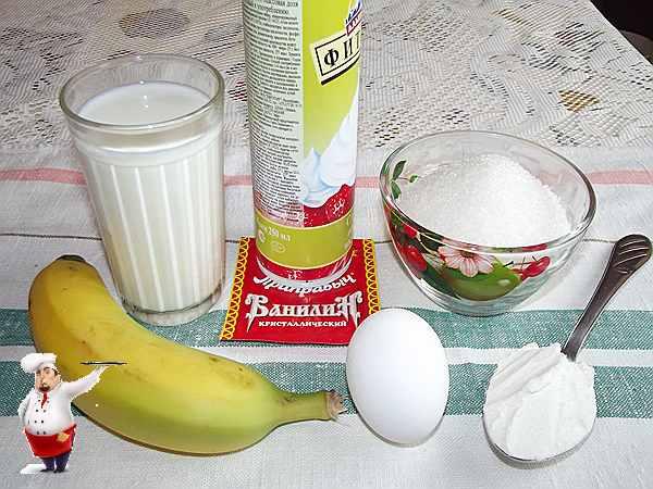 продукты для пудинга из бананов