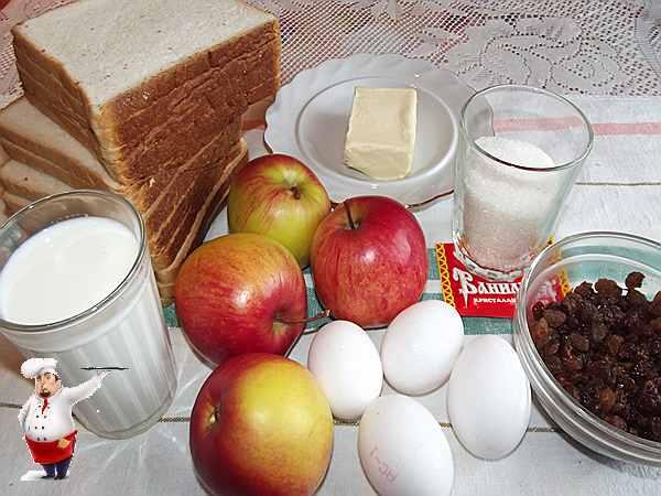 продукты для пирога из яблок