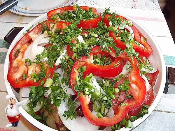 сотейник с курицей и овощами