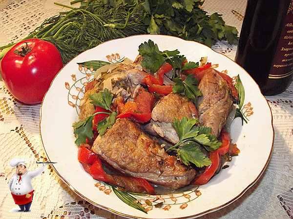 рецепт чахохбили из курицы с вином