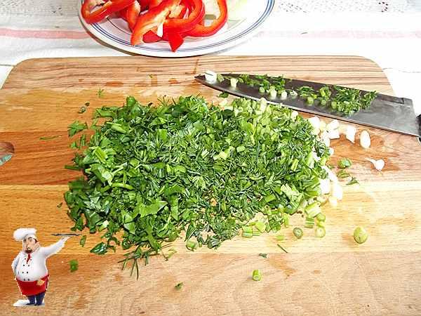 зелень для грузинского блюда из курицы