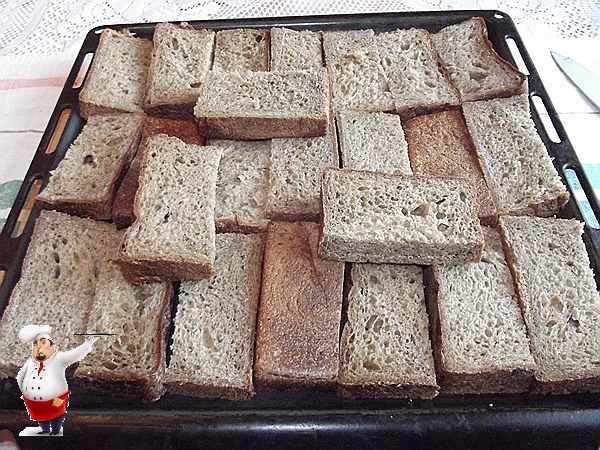 нарезанные хлеб для кваса