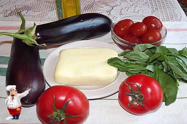 продукты для овощного блюда из баклажан