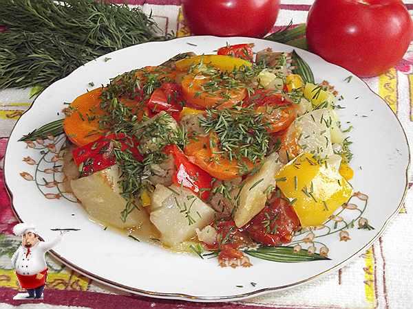 овощное рагу с баклажанами в мультиварке
