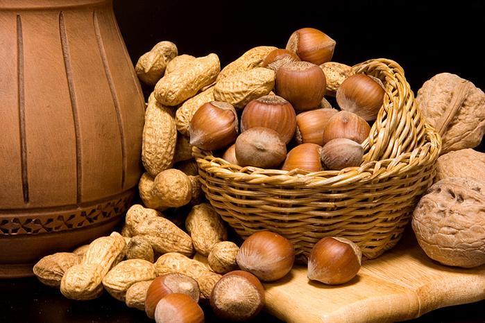 полезный продукт орехи