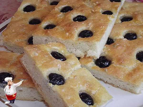 рецепт фокачча с оливками
