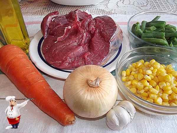 продукты для тушеной говядины
