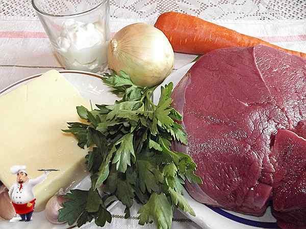 продукты для блюда из мяса запеченного в духовке