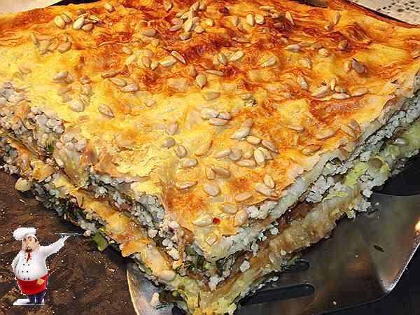 пирог с курицей и зеленью