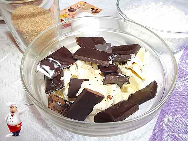 шоколад с сливочным маслом для брауни