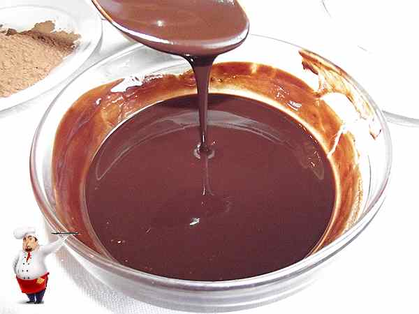 растопленный шоколад для пирожного