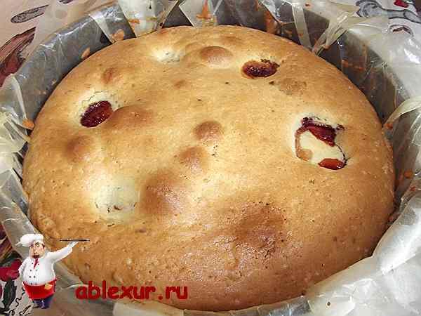 запеченный пирог в форме
