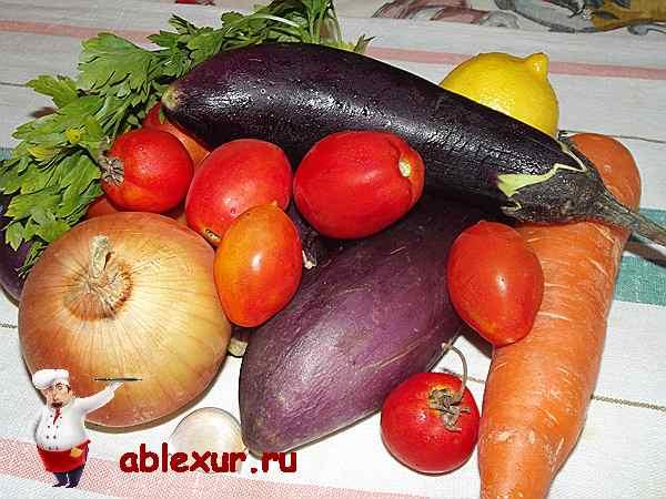 овощи для баклажанной икры