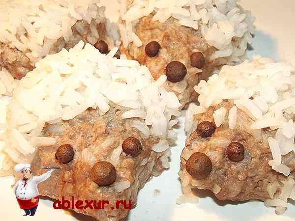 приготовленные ежики с рисом
