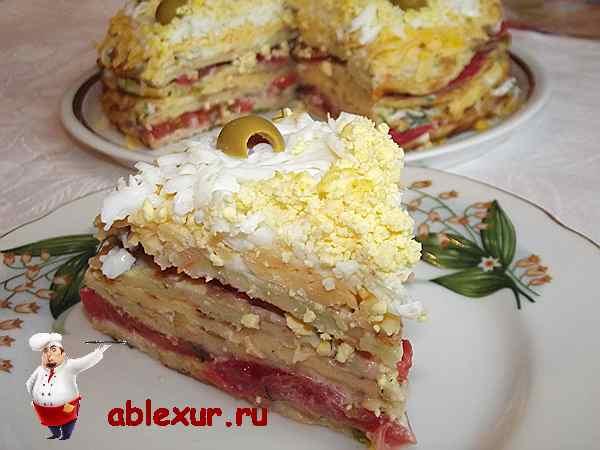 торт из кабачков рецепт с фото с помидорами и сыром запеченный