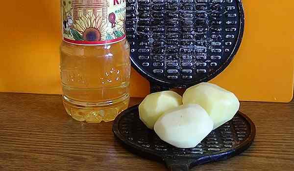 картофель с вафельницей