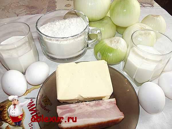 продукты для лукового пирога