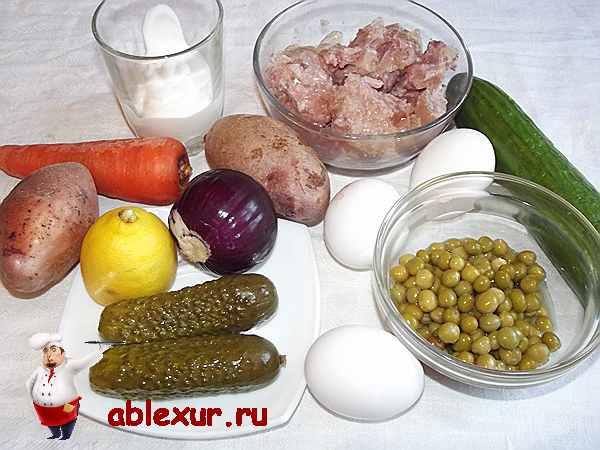 продукты для оливье