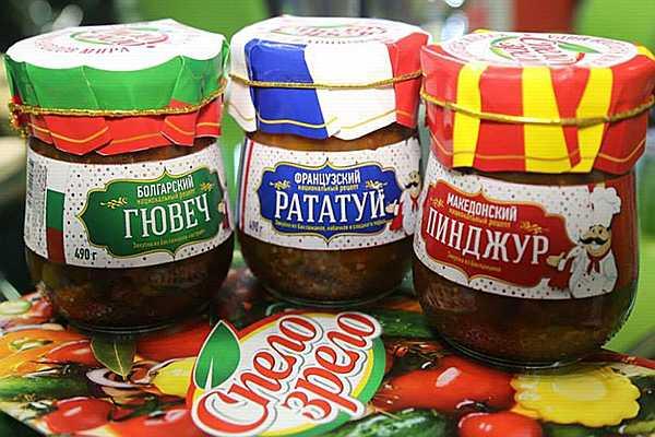 баночки с продуктами европейской кухни