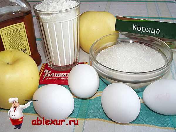 продукты для яблочной шарлотки