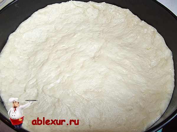 дрожжевое тесто в форме