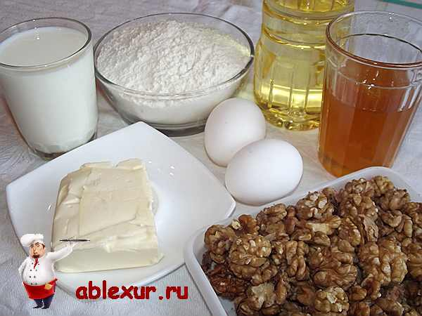 компоненты для дрожжевого пирога