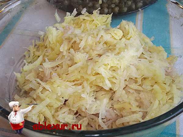 картофель натертый для пирога
