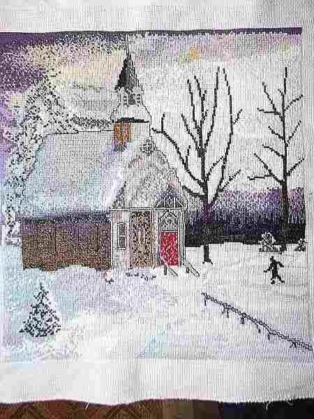 картина храм зимой