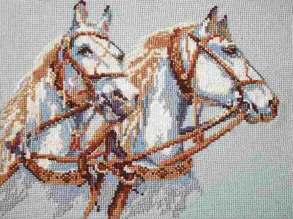 картина запряженные лошади