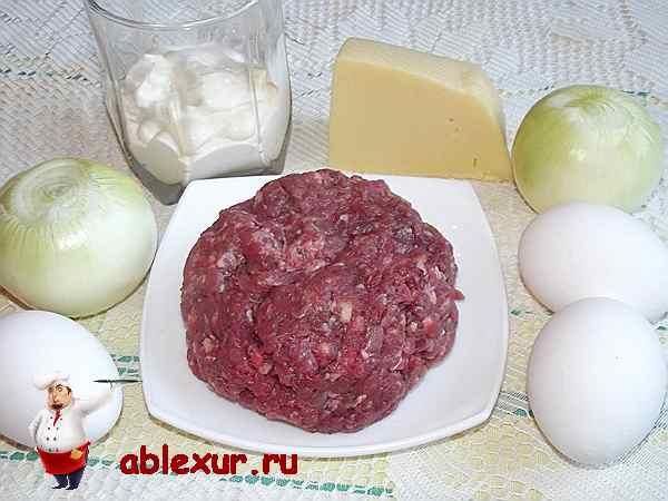 говяжий фарш для котлет с яйцами и сыром
