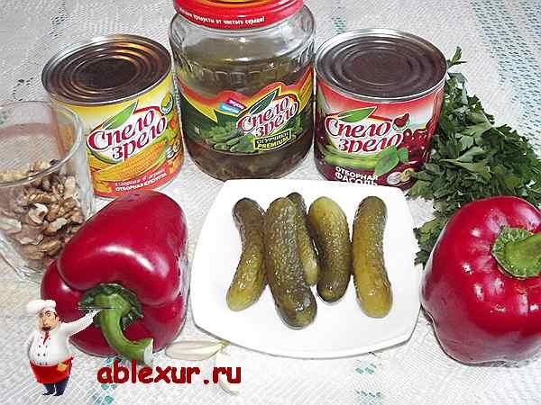 продукты для салата с красной фасолью